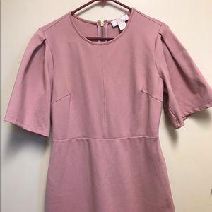 Rachel Parcell Mauve Flutter Sleeve Ponte Dress